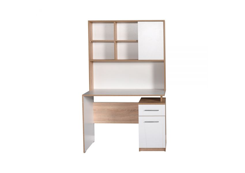 Adore Plus Study Desk with drawer and shelves
