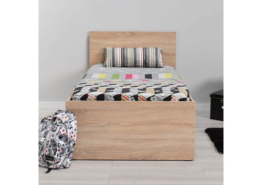 Adore Kids Bed Brown 90cm