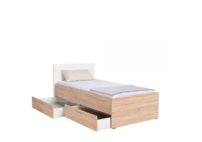 Adore Kids Bed With 2 Drawers 90cm