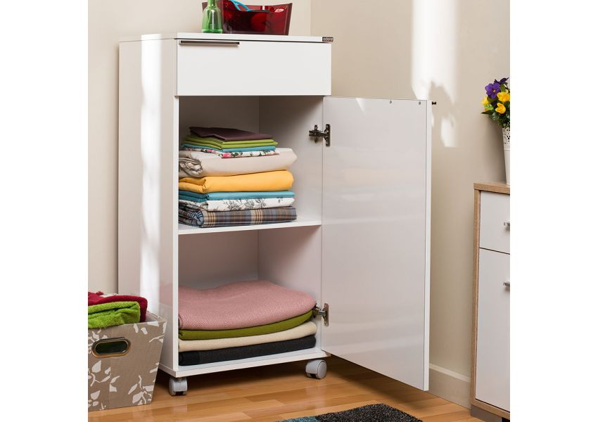 Adore Multipurpose Mobile Cabinet with One Drawer & One Compartment