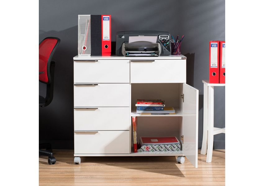 Adore Multipurpose Mobile Cabinet with Five Drawers & One Compartment