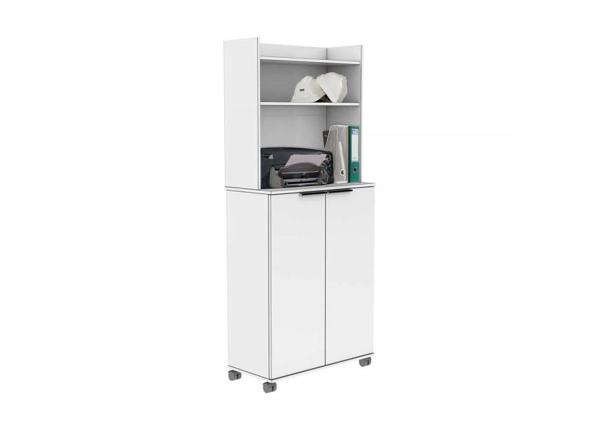 Adore Multipurpose Mobile Cabinet with Two Door & Adj. Shelves