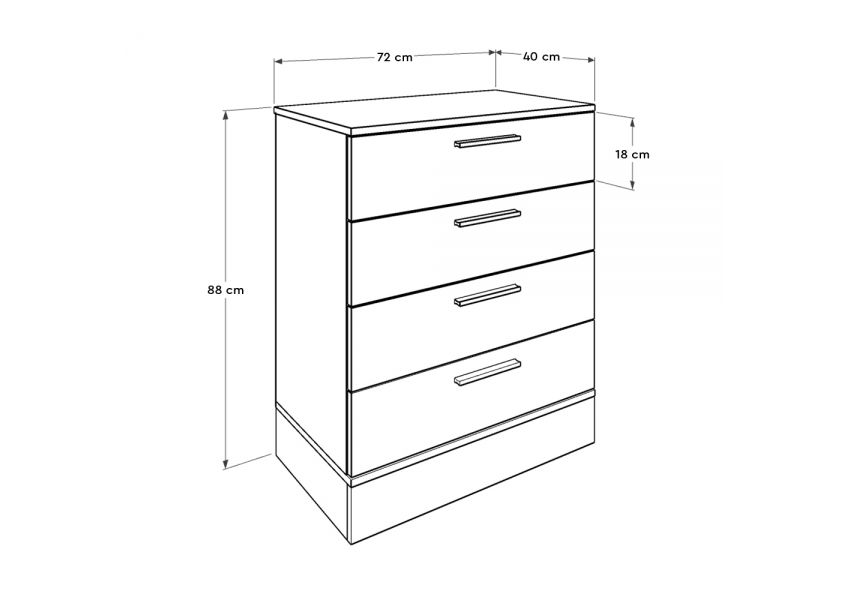 Adore Milano Chest of Drawers