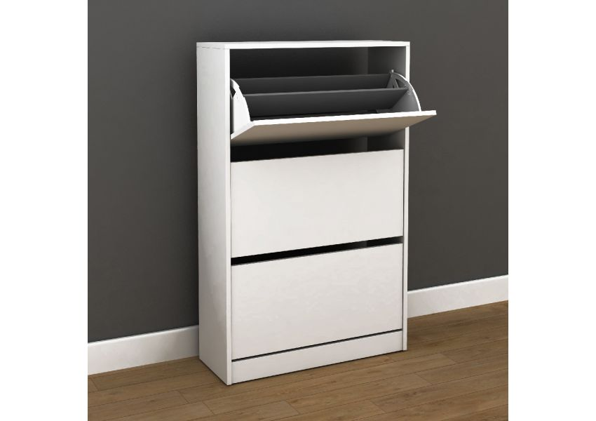 Adore Wide Shoe Cabinet with Three Section
