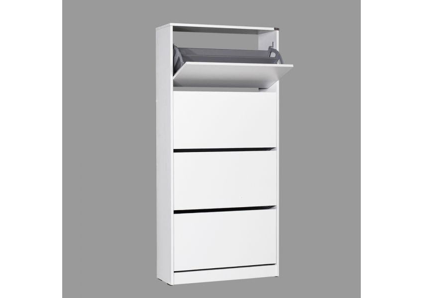 Flat Duo 4-Storey Wide Shoe Cabinet