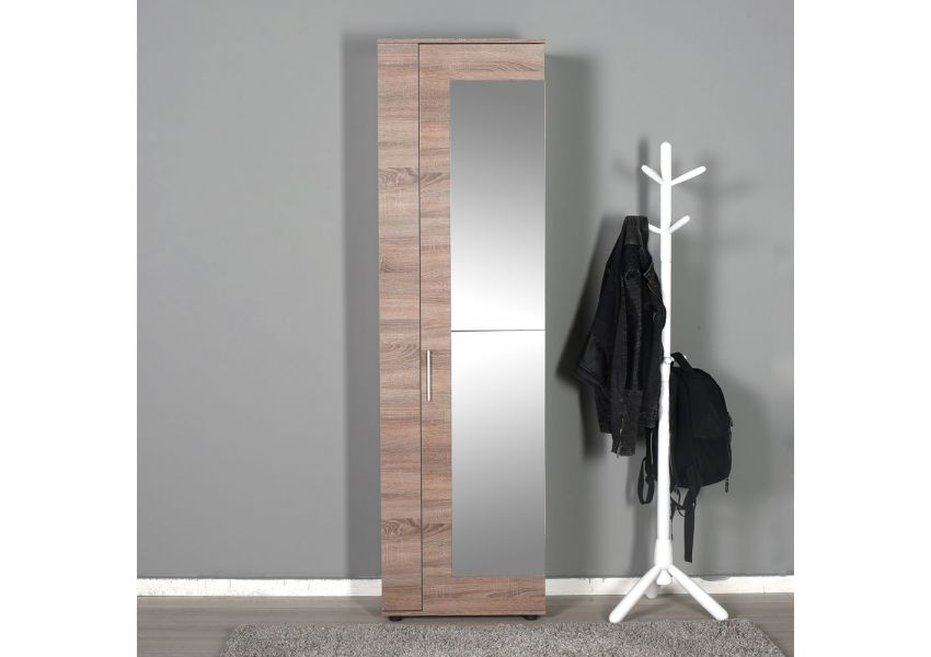 Entrance 11 Compartments 2-Door Mirrored Shoe Cabinet Extra Large