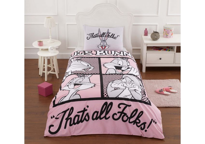 bugs bunny folks single bed set