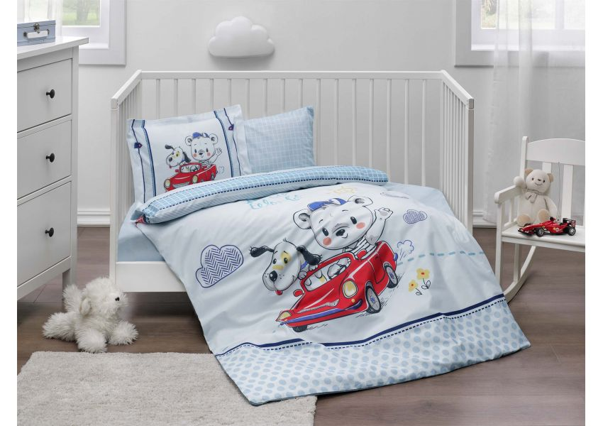 Hello World Bed Set Baby Size