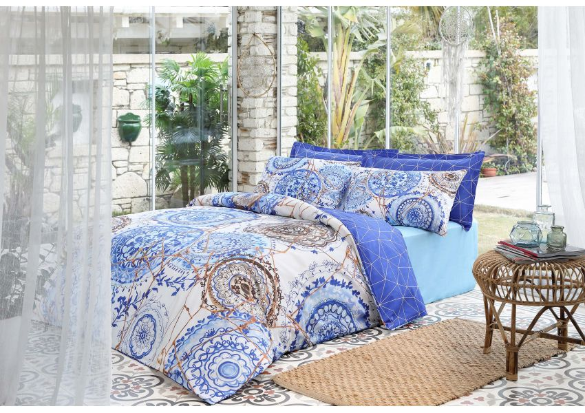 majolica double bed set - satin