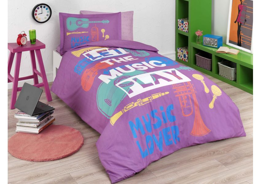 music lover single bed set