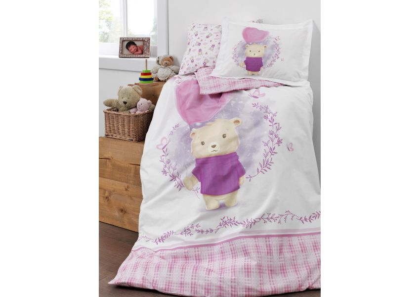 purple love bed set baby size