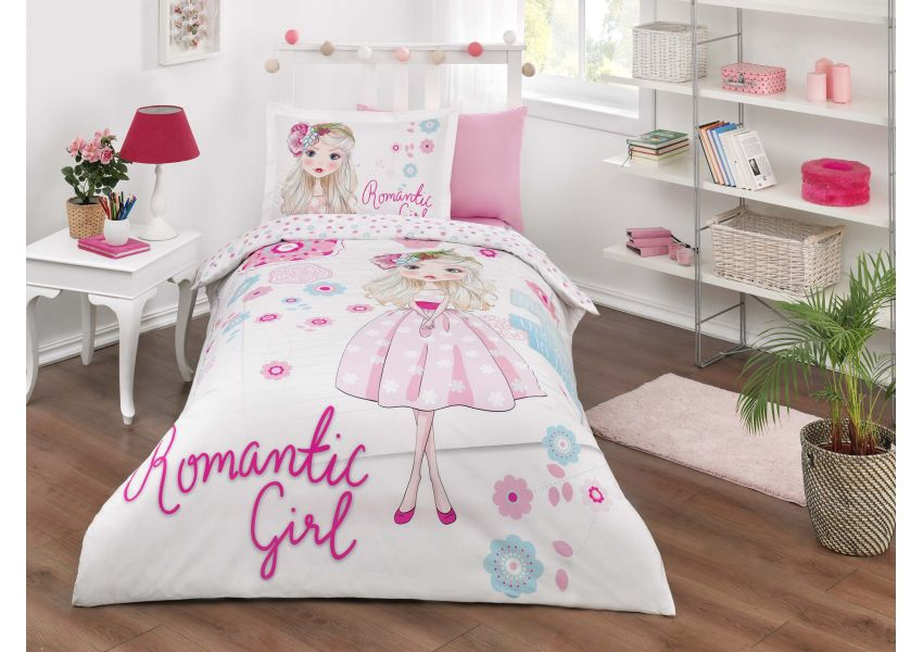 romantic girl single bed set