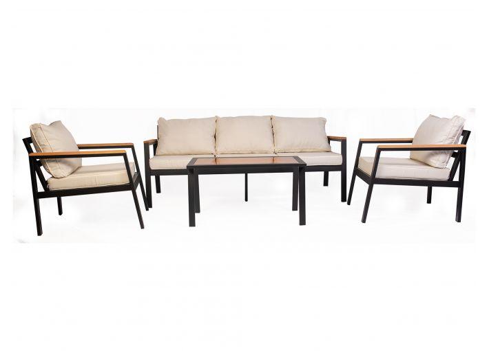 Mira Garden 5 Seater Sofa Set Aluminium Frame