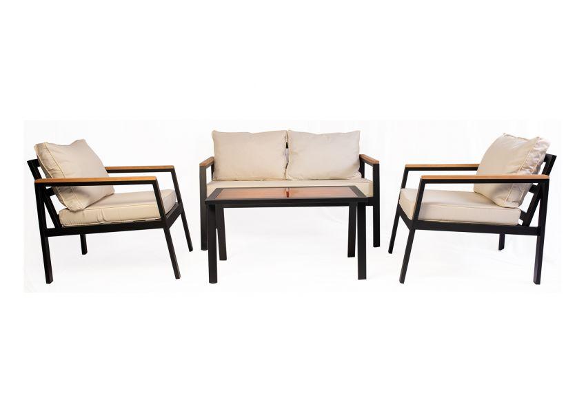 Mira Garden 4 Seater Sofa Set Aluminium Frame
