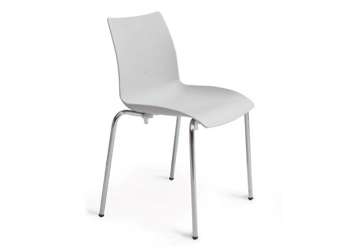 Alya Chair Set of 2 Chrome Legs