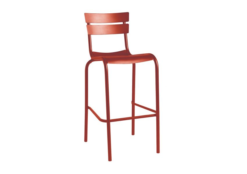 Rivoli Set Of 2 Bar Chairs Aluminium Frame