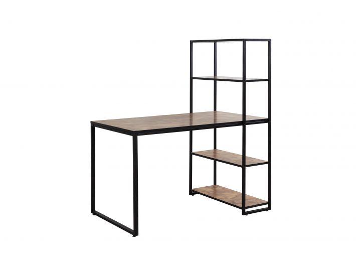 Lavoro Small Study Desk with Metal Shelf