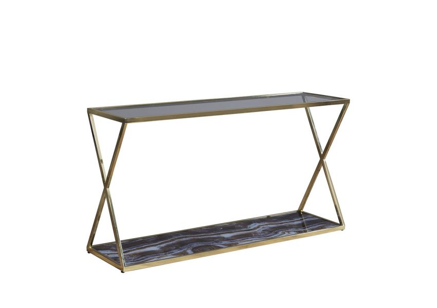 Lioni Gold Console Table
