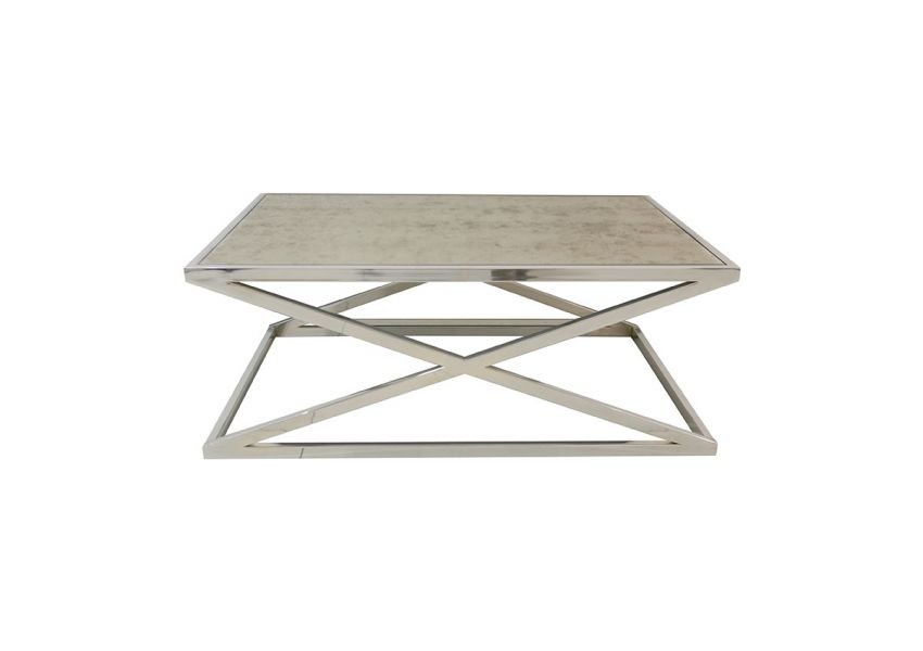 Lioni Rectangle Coffee Table Chrome