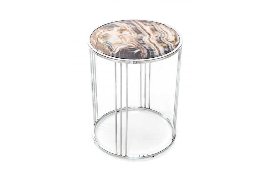Marotta Chrome Side Table