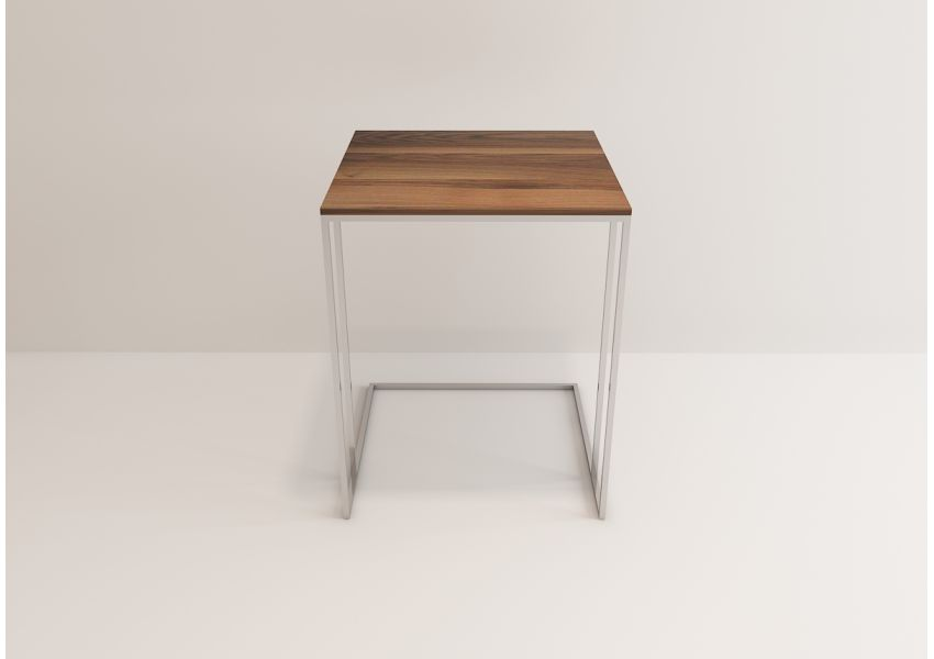 Square Chrome Nesting Table