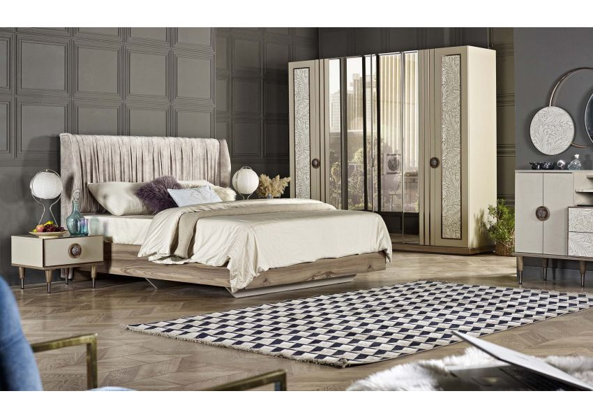 Garden King Size Bed with Headboard 160cm