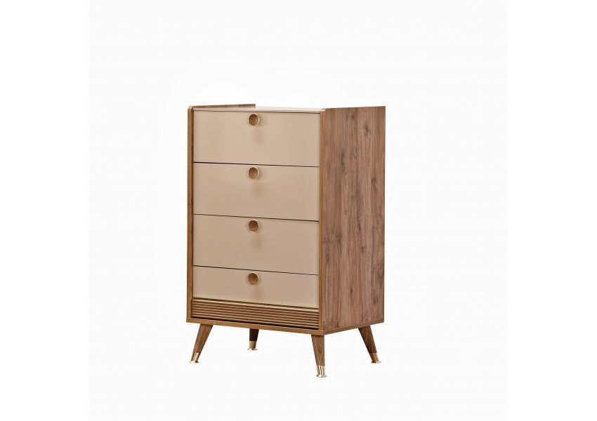Gold 4 Drawer Chest